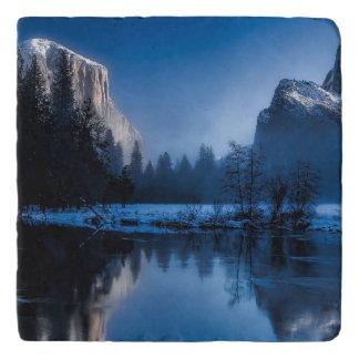 Schöne Yosemite Nationalpark Landschaft Töpfeuntersetzer