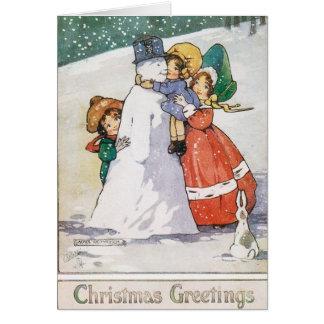 Schöne Zwanzigerjahre Weihnachtskarte Karte