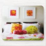 Schöner Bett-und Schlafzimmer-Dekor