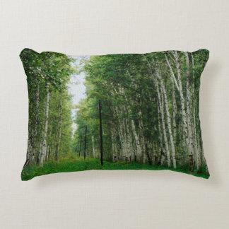 Schöner Birken-Baum-Wald Zierkissen