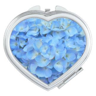 Schöner blauer Hydrangea Taschenspiegel