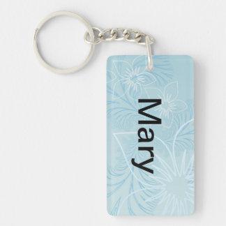 Schöner blauer Name Schlüsselanhängern