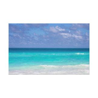 Schöner blauer Ozean des Caribbeans Leinwanddruck