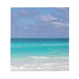 Schöner blauer Ozean Notizblock