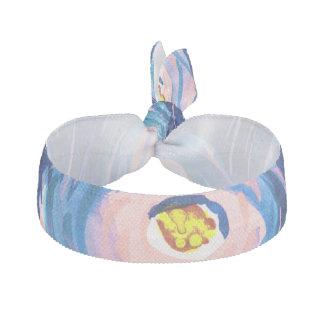 Schöner blauer u. rosa abstrakter haarschleife
