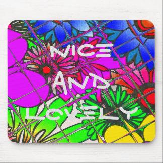 Schöner bunter fantastischer Blumenmusterentwurf a Mousepad