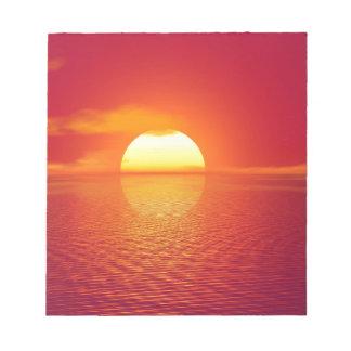 Schöner bunter Sonnenuntergang Notizblock