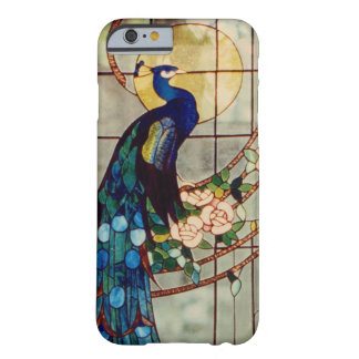 Schöner Buntglas-Pfau Barely There iPhone 6 Hülle