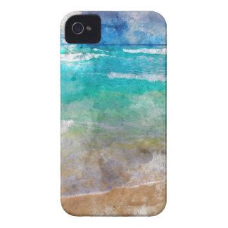 Schöner Cancun-Strand - Aquarell iPhone 4 Hüllen