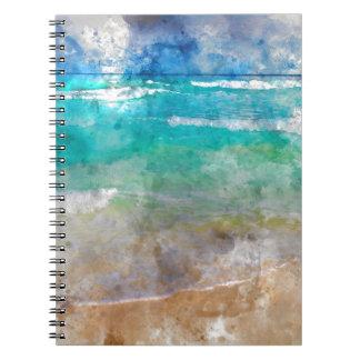 Schöner Cancun-Strand - Aquarell Spiral Notizblock