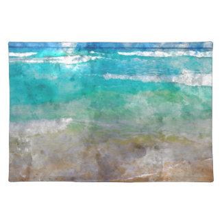 Schöner Cancun-Strand - Aquarell Tischset