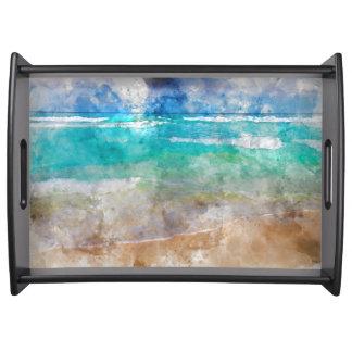 Schöner Cancun-Strand Serviertablett