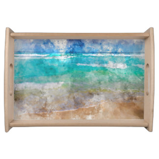 Schöner Cancun-Strand Tablett