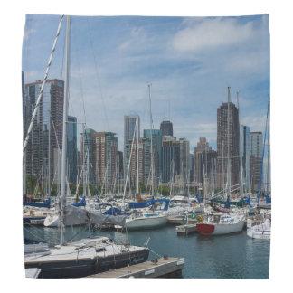 Schöner Chicago-Hafen Kopftuch