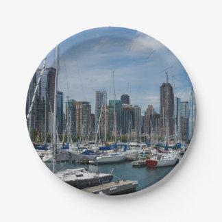 Schöner Chicago-Hafen Pappteller