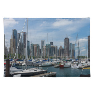 Schöner Chicago-Hafen Tischset