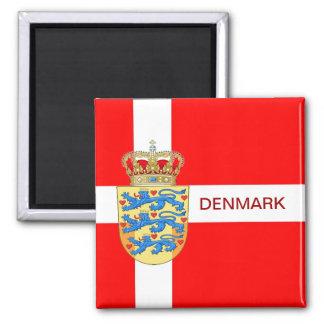Schöner Dänemark-Magnet! Quadratischer Magnet