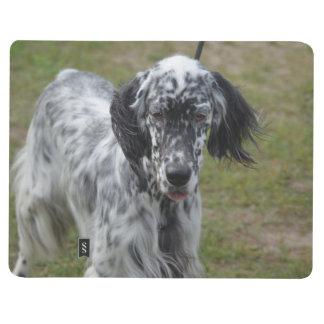 Schöner englischer Setzer-Hund Taschennotizbuch