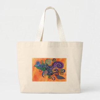 Schöner Entwurf auf einer handlichen Taschentasche Jumbo Stoffbeutel