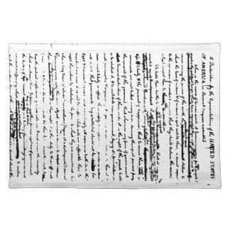Schöner Entwurf des Skriptes ab 1776 durch Tischset