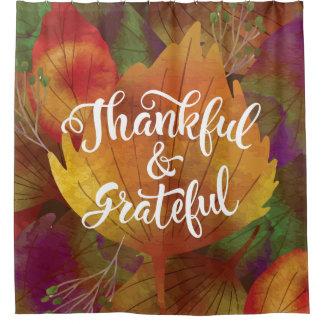 Schöner Fall-dankbarer u. dankbarer Duschvorhang