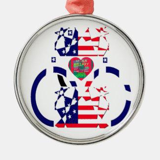 Schöner fantastischer Text-reizendes Herz USA Rundes Silberfarbenes Ornament