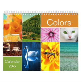 Schöner Farbkalender Abreißkalender