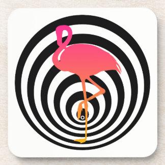 Schöner Flamingo in den Kreisen Getränkeuntersetzer