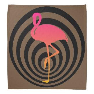 Schöner Flamingo in den Kreisen Kopftuch