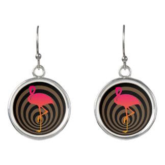 Schöner Flamingo in den Kreisen Ohrringe