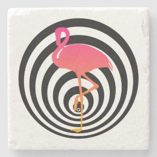 Schöner Flamingo in den Kreisen Steinuntersetzer