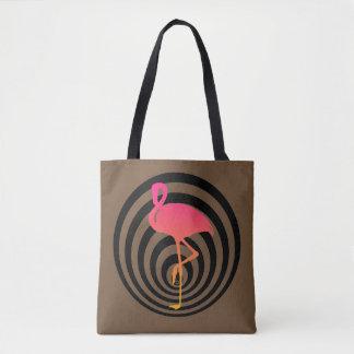 Schöner Flamingo in den Kreisen Tasche