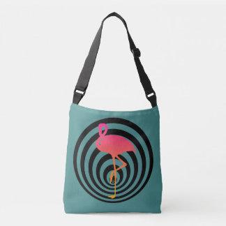 Schöner Flamingo in den Kreisen Tragetaschen Mit Langen Trägern