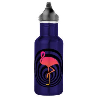 Schöner Flamingo in den Kreisen Trinkflasche