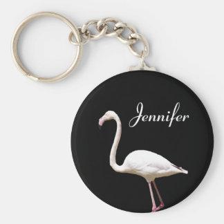 Schöner Flamingo - personalisiertes NamensKeychain Schlüsselanhänger