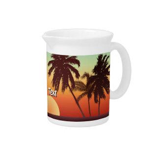 Schöner Florida-Sonnenuntergang Getränke Pitcher