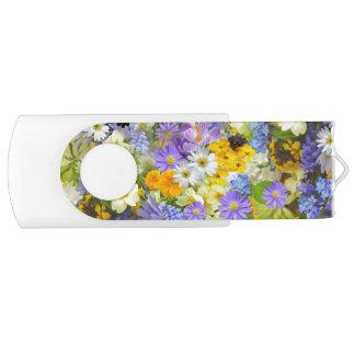 Schöner Frühlings-Wiesen-Blumen USB-Blitz-Antrieb USB Stick