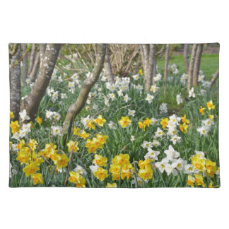 Schöner Frühlingsnarzissengarten Tischset