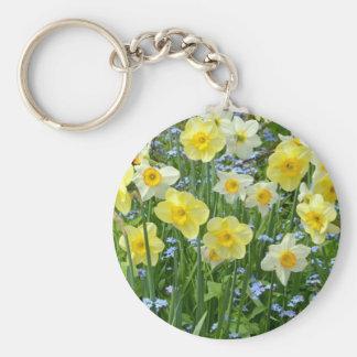 Schöner gelber Narzissengarten Schlüsselanhänger