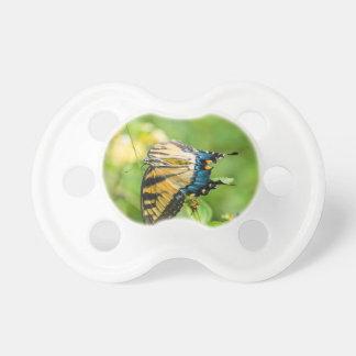 Schöner gelber Schmetterling Schnuller