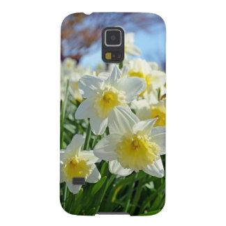 Schöner gelber und weißer Narzissengarten Samsung Galaxy S5 Cover