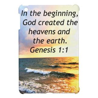 SCHÖNER GENESE-1:1 BIBEL-ZITAT-ENTWURF iPad MINI HÜLLE