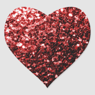 Schöner Glamour-rote Glitter-Glitzern Herz-Aufkleber