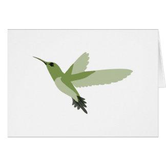 Schöner grüner Kolibri Karte
