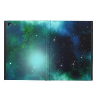 Schöner grüner Nebelfleck gefüllt mit Sternen