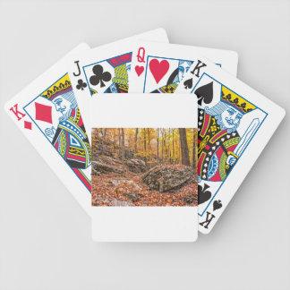 Schöner Herbst-Wald Bicycle Spielkarten