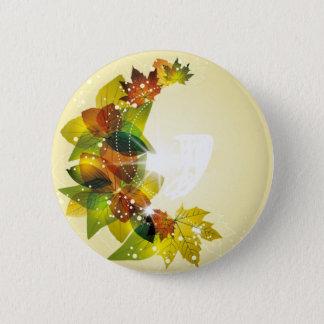 Schöner Herbstlaub Runder Button 5,7 Cm
