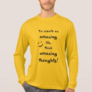 Schöner inspirierend Zitat-lang Sleeved Männer T-Shirt