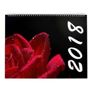 Schöner Kalender der Blumen-2018