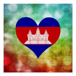 Schöner Kambodschaner Poster